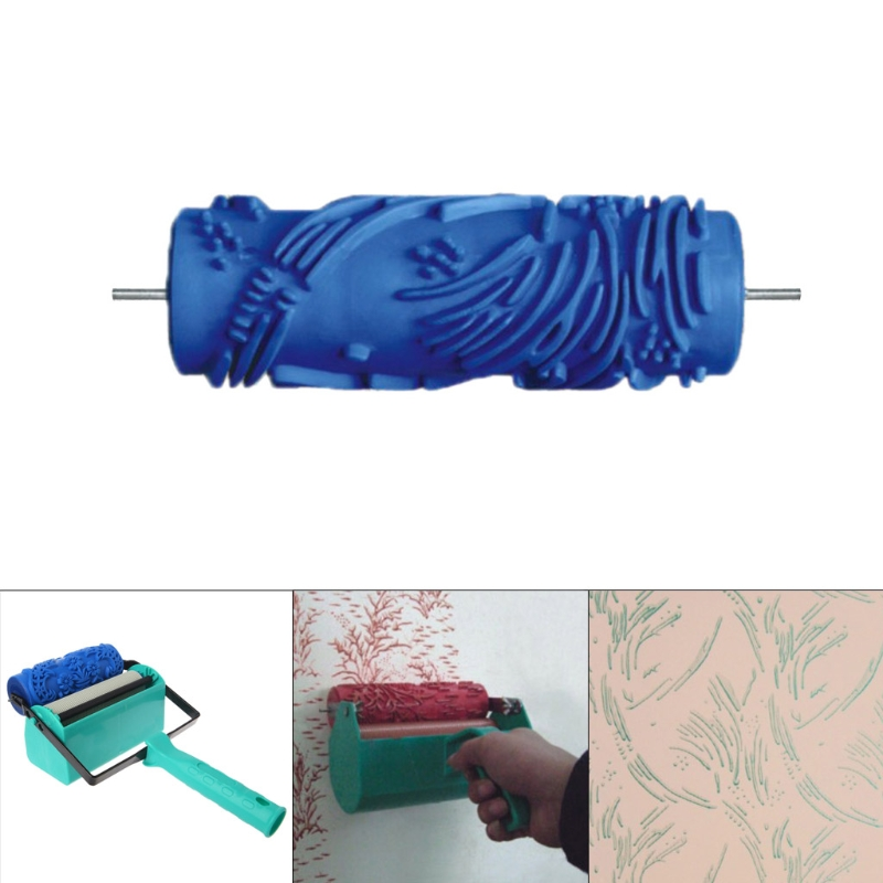 5 quot Embossed Paint Roller Sleeve Wall Texture Stencil Brush Pattern Decor 026Y in Chisel from Tools