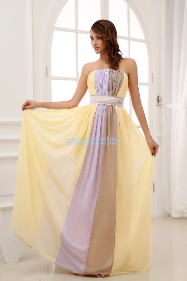 Free Shipping 2020 New Design Floor Length Brides Maid Dress Maxi Dresses Long Formal Dress Sexy Chiffon Bridesmaid Dresses