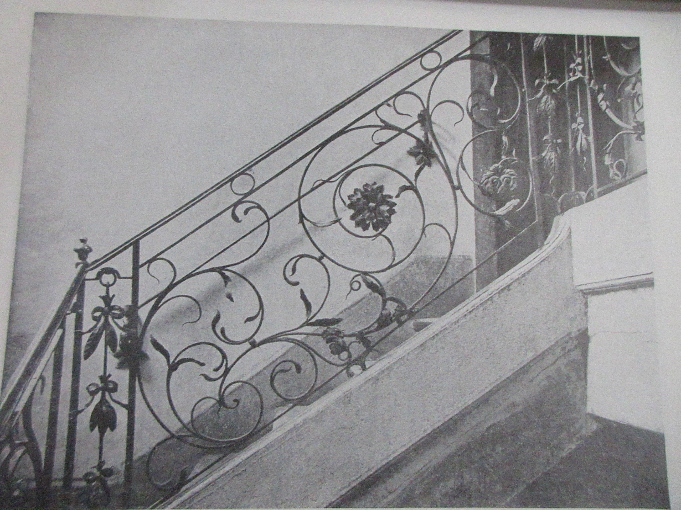Hench 19 Century Wrought Iron Stair Railing Wrought Iron Balustrade