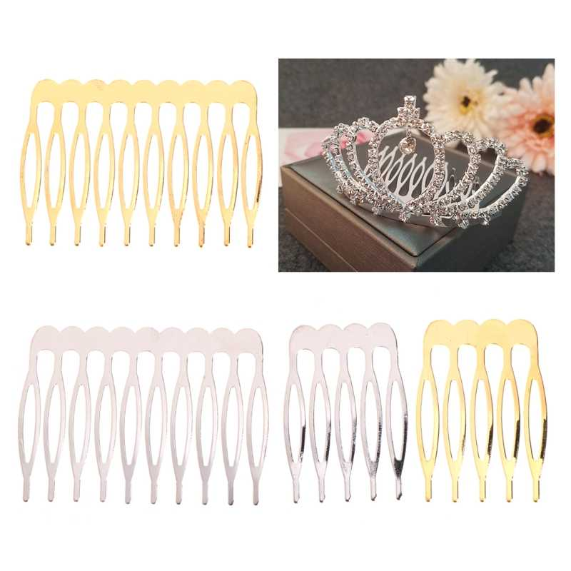 Bride Crown Comb Wedding Alloy Hair Accessories Jewelry Golden Silver Bridal Pin