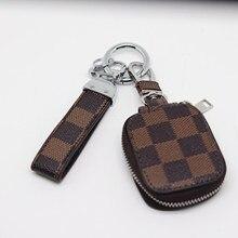 car keychain women men samll wallet grid bag pendant decoration accessory DIY buckle creative high grade