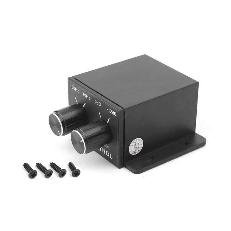 Equalizador para veículo, pequeno amplificador de áudio para carro e controlador 4 rca, subwoofer, stereo