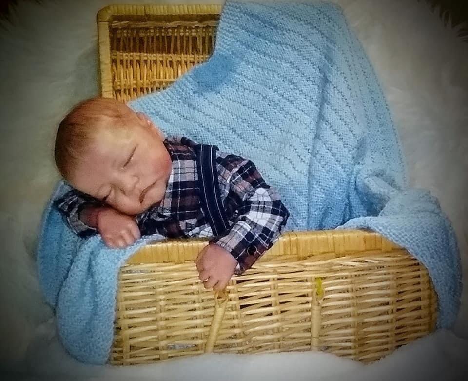 NPK 48CM reborn Levi premie bébé nouveau-né poupée réaliste garçon réaliste réaliste toucher doux câlin bébé poupée d'art à collectionner