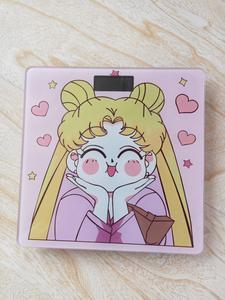 Image 3 - Cosplay Sailor Moon sakura figurka szkło hartowane śliczne elektroniczne cyfrowe waga podłogowa bilans wagi wyświetlacz LCD nowość