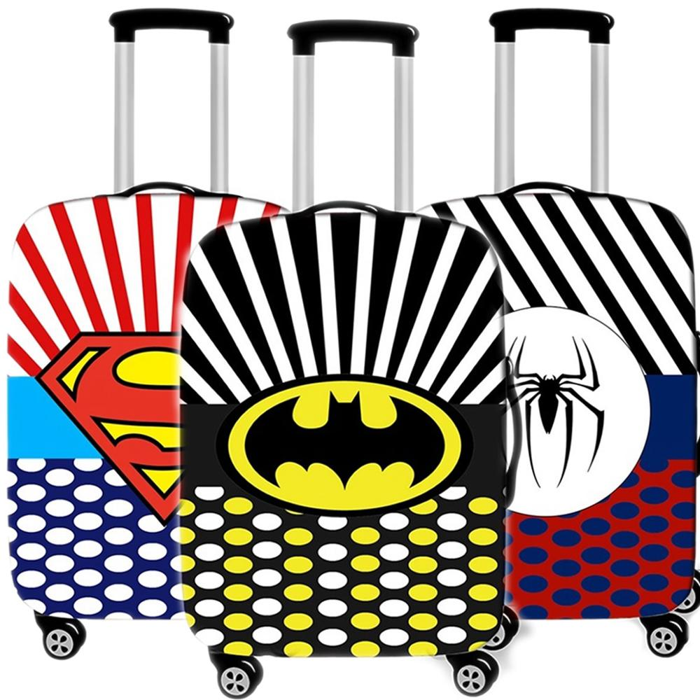 Cartoon Batman Suitcase Case Protective Cover Travel Luggage Thicken Dust Cover Accessories Suitcases Organizer 18-32 Xl Inch