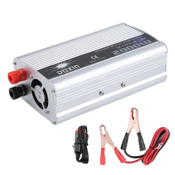 Dual USB Auto Power Inverter DC 12V Zu AC 230V Automobil Transformator Tragbare Modifizierte Sinus Welle Konverter UK stecker image