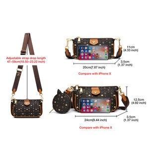 FOXER 2020 новые сумки через плечо 3 в 1 стильная фирменная Женская сумка съемный Кошелек для монет из ПВХ кожи женские модные сумки через плечо
