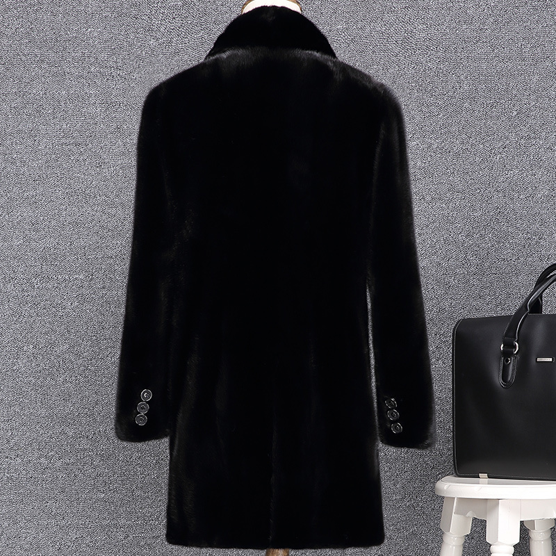 Mens Mink Coat Real Fur Coat Men Clothes 2020 Long Winter Jacket Natural Fur Coats And Jackets Warm Outerwear KJ2723