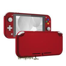 Extremerate Soft Touch Scarlet Red Diy Vervanging Shell Behuizing Case Cover Met Screen Protector Voor Ns Schakelaar Lite