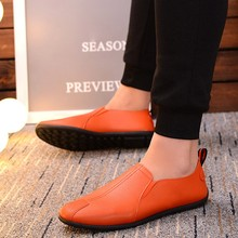 Men Casual Shoes Fashion Men Shoes Genuine Leather Casual Slip-on Breathable Driving Boat Sneakers Dress Shoes 2021 New #01