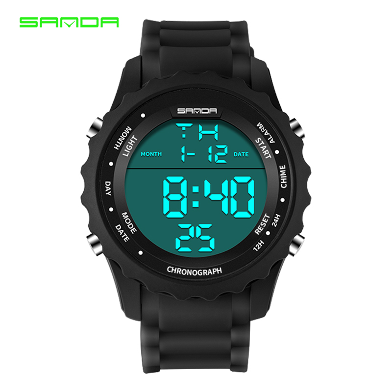 SANDA Mens Digital Watch Military Watch Fashion Sport Clock Waterproof Men Watches LED Electronic Wrist Watch relogio masculino