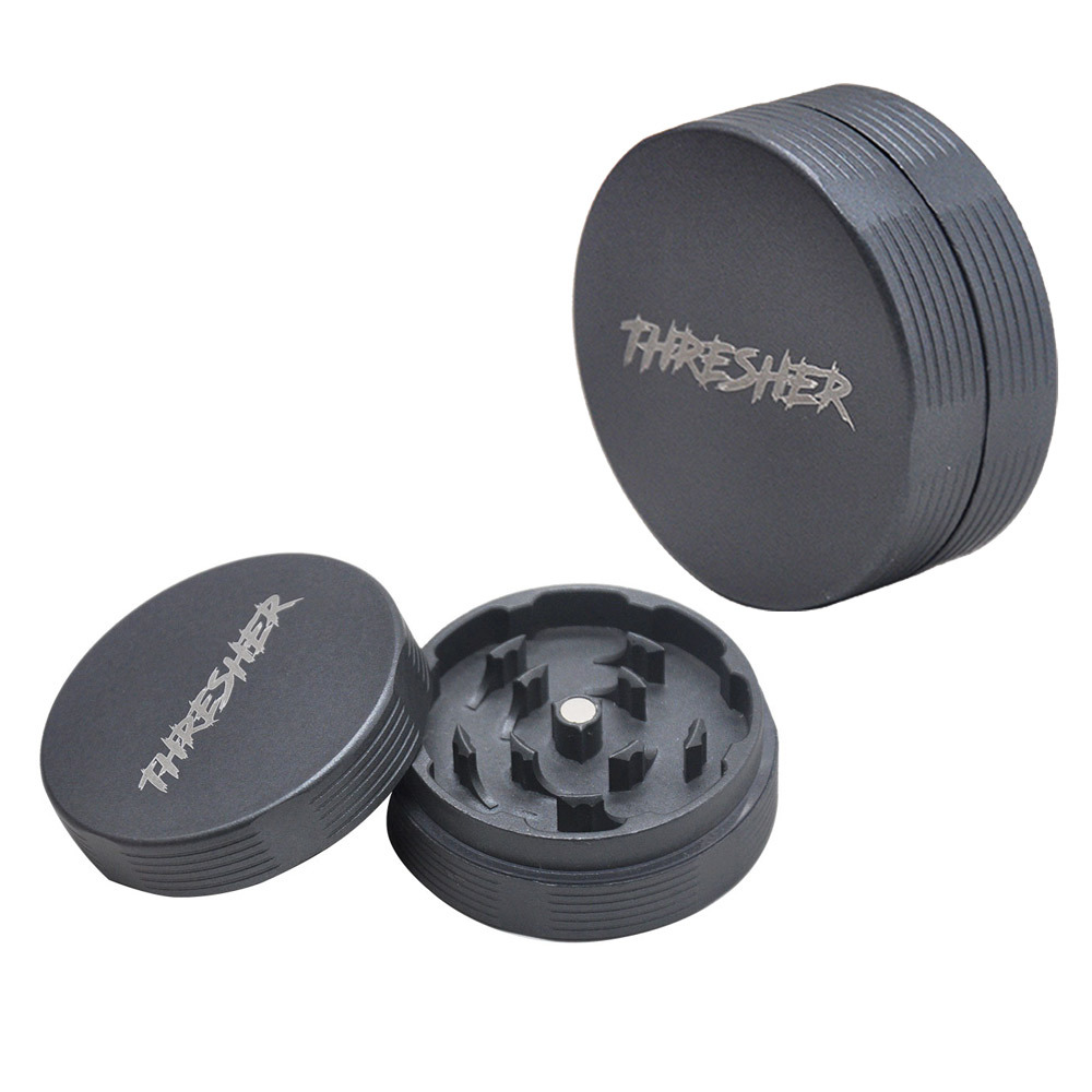 FHRESHER Aircraft Aluminum 56MM Smoking Herb Grinder 2 Piece With Sharp Diamond Teeth Tobacco Metal Smoking Grinders Accessories 2
