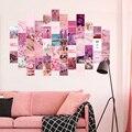 50 шт. семян розовых эстетическая картина для коллаж принт Наборы теплые Цвет номер Декор для девочек Wall Art принты для плакат для общежития