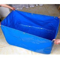 Anti UV Outdoor Swimming Pool 1x1.5x0.6M Foldable Blue Pool Fish Tank Pond PVC Coated Movable Waterproof Blue Water Sports