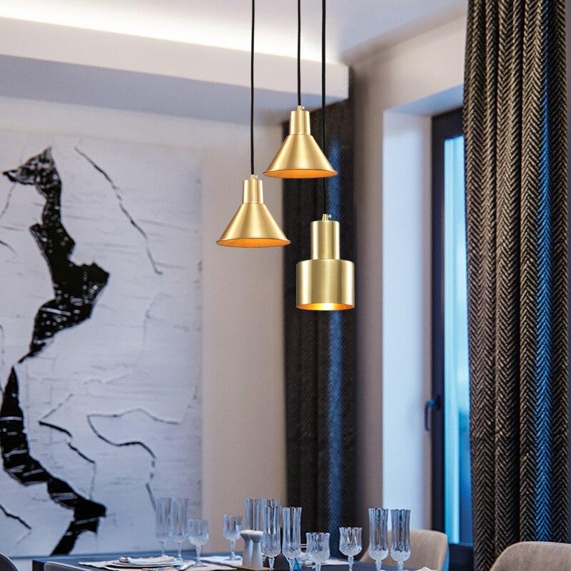 New Modern Luzes Pingente De Cobre Sótão Ouro Pirâmide Lâmpada Pendurada LEVOU Para Casa Iluminação Interior Fixação Para Sala de Estar/Sala de Jantar quarto
