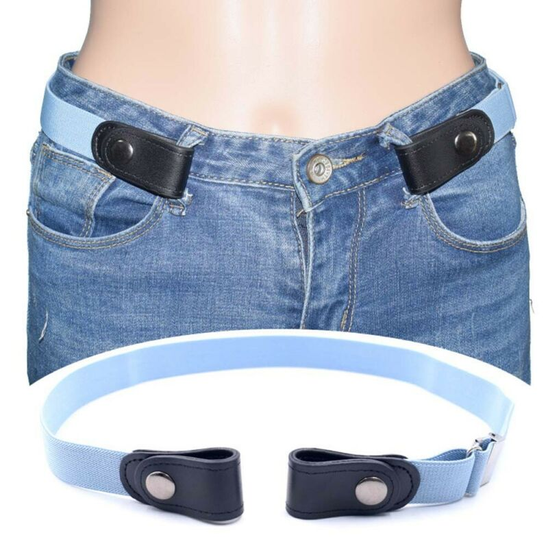 Adjustable Invisible Lazy Buckle-Free Elastic Waist Belt No Hassle Belt Stretchy Men Jeans Pants Women Dress Waistband