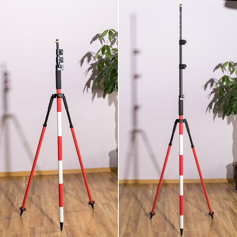 Nuevo vástago de centrado de 5 m Prisma de centrado Varilla de medición y soporte de varilla de centrado Conector ajustable de 5/8