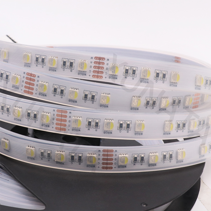 4 Colors in 1 RGBW LED Strip Light DC12V/24V SMD 5050 RGB + White / Warm White 5M 60leds/m 12MM PCB Waterproof Led Tape RGBWW