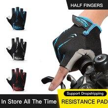 Half-Finger Gloves Bike Equipmen Cycling Road Sports Women Shockproof MTB Luvas Breathable