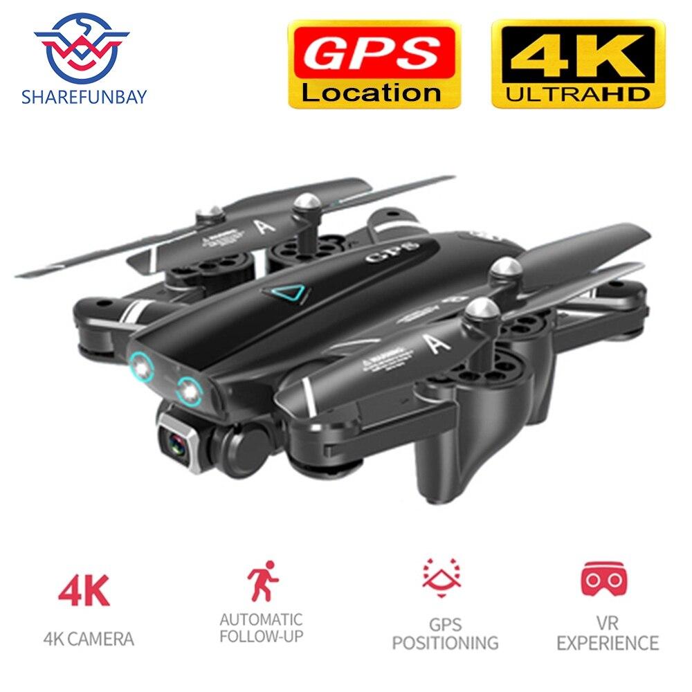 Zangão do helicóptero do vôo 20 minutos quadcopter do zangão 4k hd da câmera gps 5g wifi fpv 1080 p rc com câmera