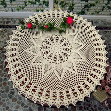 60cm Modern lace cotton round table place mat cloth pad crochet drink placemat Cup coaster Dining tea doilies mug holder Kitchen