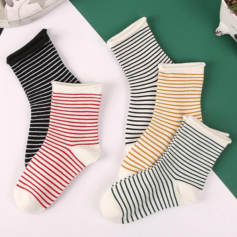 Женские носки в полоску из чистого хлопка свободное, удобные, дышащие, антифрикционные|Носки|   | АлиЭкспресс