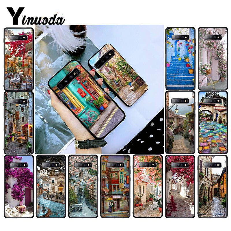 Yinuoda travel italy France London Beautiful Flower Place Phone Case for Samsung S10 S10E S6 S7 S8 S9 S9Plus S20 S10lite image