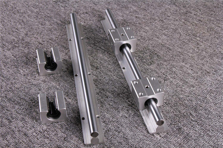 1PC SBR12 Linear Rail Shaft Guide Rod With 2PCs SBR12UU Block Bearing L200-500mm