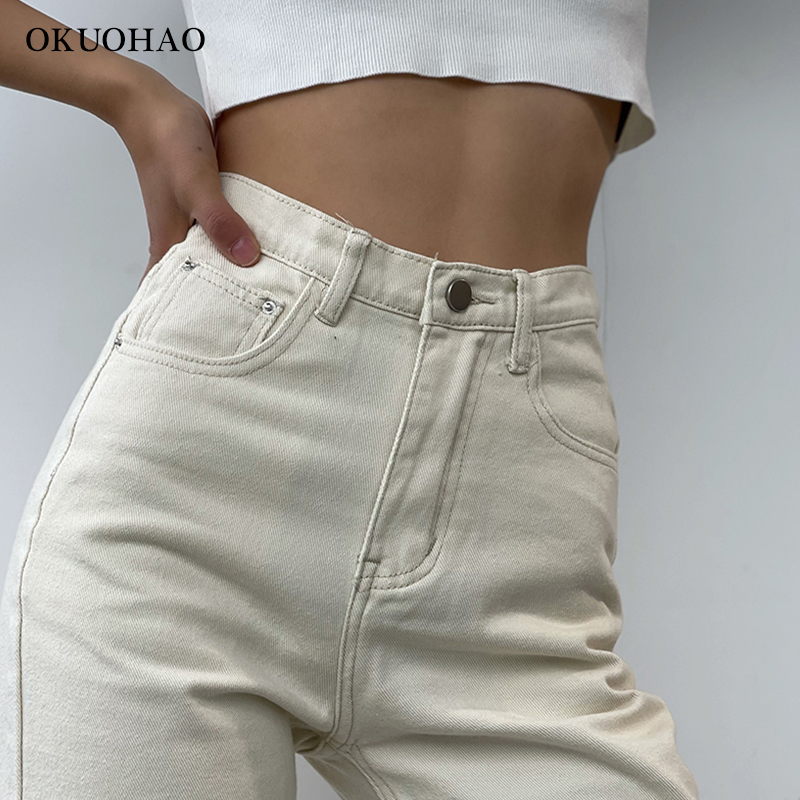 2021 Flared Jeans Women High Waist Mom Jeans Denim Trousers Female Streetwear White Vintage Clothes Boot Cut Wide Oversize Pants 6
