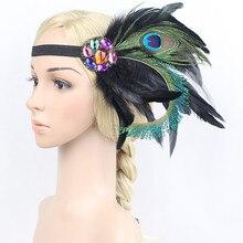 Вуалетка повязка на голову с перьями для женщин Кентукки Дерби Свадебная вечеринка головной убор Ретро стиль аксессуары для волос для Коктейльные Вечерние