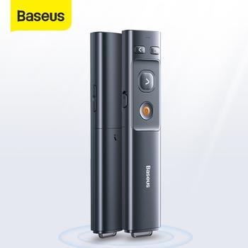 Baseus Wireless Presenter 2.4GHz Laser Pointer Remote Controller for Projector USB Bluetooth PPT Pen Power Pointer Presenter