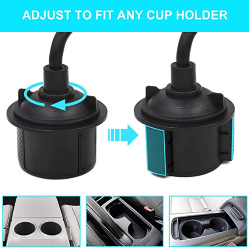 Image 2 - Universal Car Cup Holder Stand for Phone Adjustable Drink Bottle Holder Mount Support for Smartphone Mobile Phone Accessories-in Phone Holders & Stands from Cellphones & Telecommunications