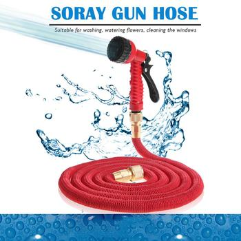 Garden Hose Expandable Magic Flexible Water Hose EU Hose Plastic Hoses Pipe With Spray Gun To Watering Car Wash Spray dropshippe 25 100 ft expandable magic hose green flexible garden hose to watering with spray gun garden car water pipe hoses watering