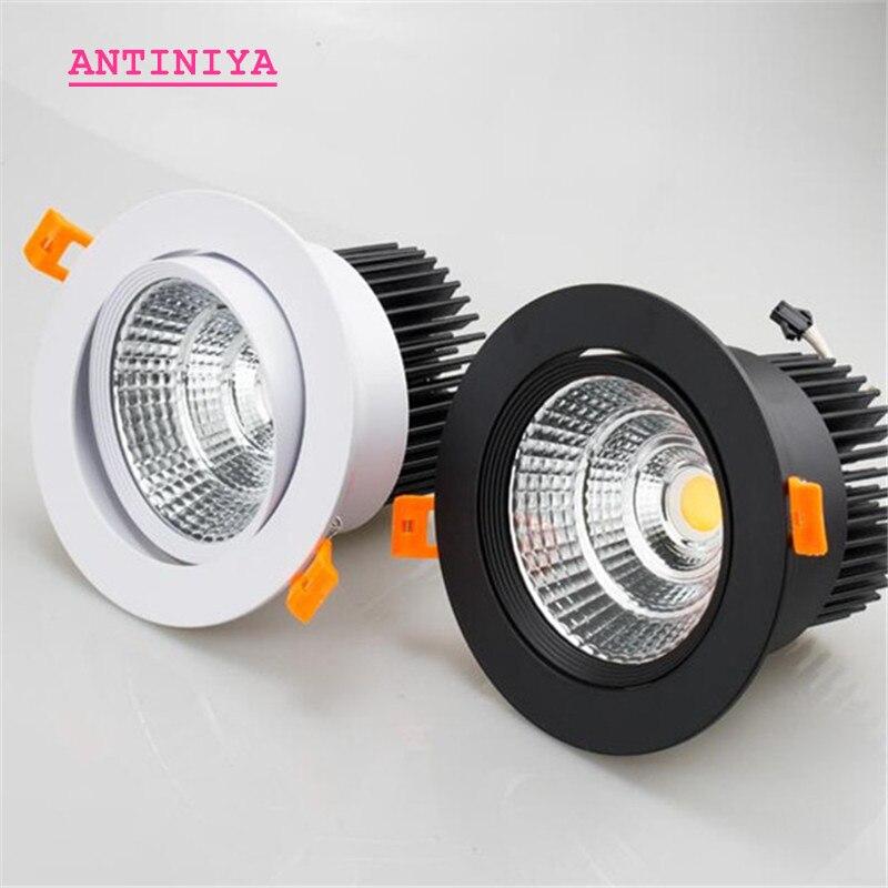 Kısılabilir AC85V-265V 5W7W9W12W15W18W tavan lambası epistar led lamba lambası gömme Spot ışık ev aydınlatma için damla nakliye