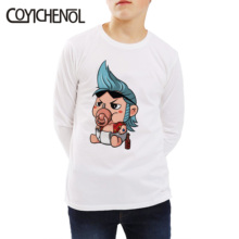 one piece kids tshirt 2019 Spring and autumn 2 12 Years animation long sleeve Kids Printed cartoon Tops COYICHENOL