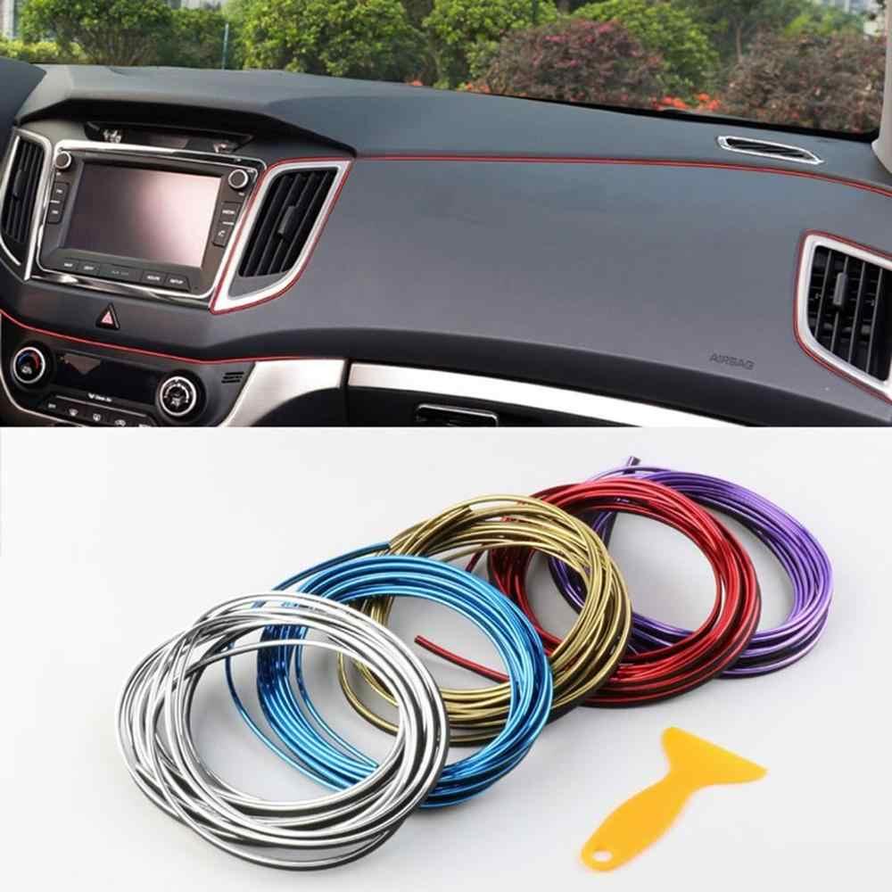 5 metre araba iç aydınlatma otomatik LED şerit Garland EL tel halat boru hattı esnek Neon işık otomatik dekoratif ışıklar