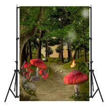 8x12 FT Mushroom Vinyl Photography Background Backdrops,Stylized Modern Birch Mushrooms in Black Color Porcini Fungus Simplistic Design Background for Selfie Birthday Party Pictures Photo Booth Shoot