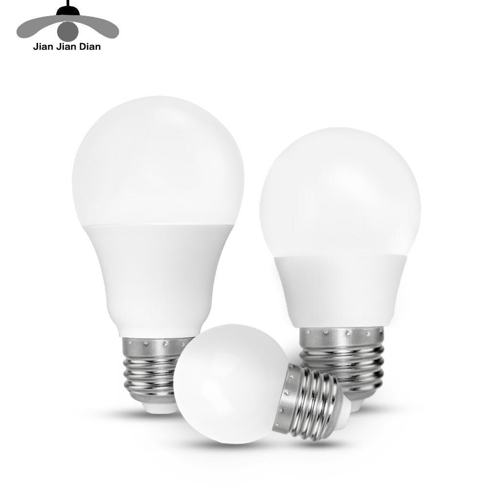 Foco de luz 2835 SMD 3 W 5 W 9 W 220 V 110 V Led Bombilla E27 E14 Bombillas lámpara cfl ampolla lámpara diodo hogar Decoración ahorro de energía LUCKYLED luz LED moderna de pared espejo de Baño Luz 9W 12W AC 90-265V lámpara de pared impermeable