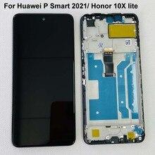 "6.67 ""Originele Voor Huawei Honor 10X Lite X10 Lite DNN LX9 Y7A Lcd Touch Screen Digitizer Voor Huawei P smart 2021 + Frame"