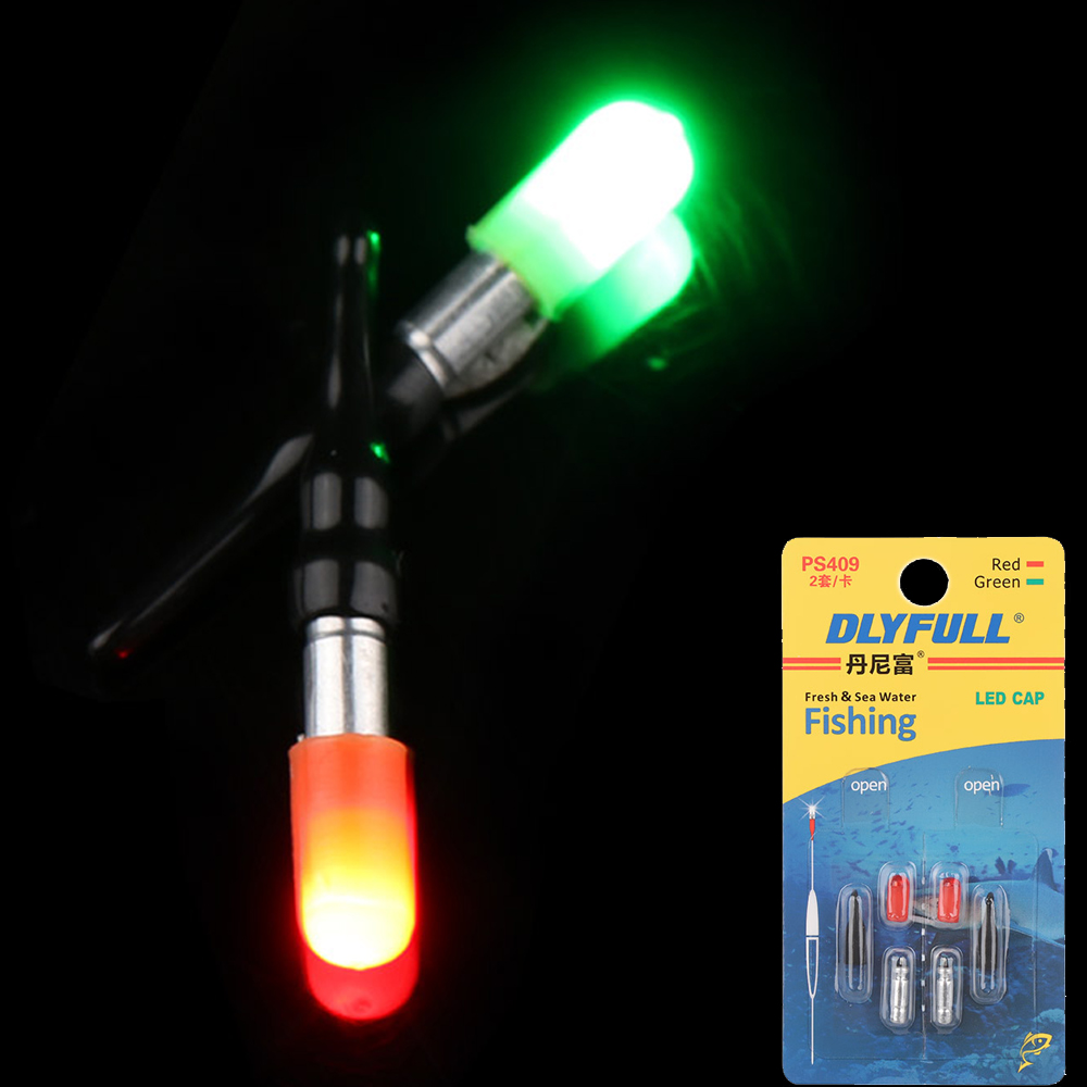 1/2set Light Stick With CR311 Battery Fishing Float Electronic Stable Night Fishing Buoy Fish Bite Automatically Remind