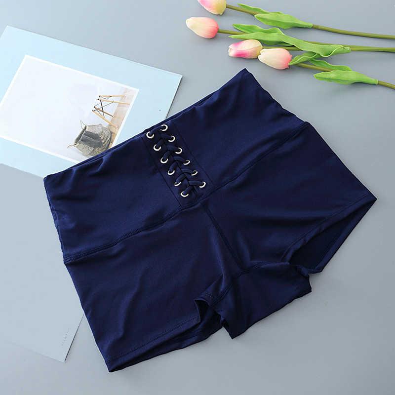 Gorąca sprzedaż kobiet bezpieczeństwa krótkie spodnie letnie koreański Sexy panie na co dzień bandaż Feminino solidne bezpieczeństwo krótkie spodnie