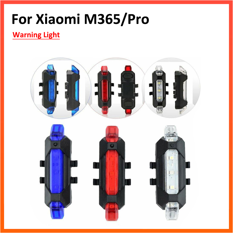 Warning LED Strip Flashlight Bar Lamp Scooter Night Cycling Safety Caution Light Continuous Flashing For Xiaomi M365