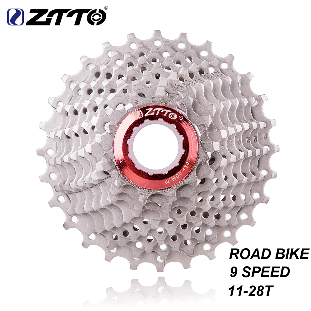 ZTTO 9s <font><b>11</b></font>-28T <font><b>Cassette</b></font> 9 Speed Freewheel Road Bike Cycling Parts 18S 27S Speed Sprocket for Road Bicycle Mountain Bike image