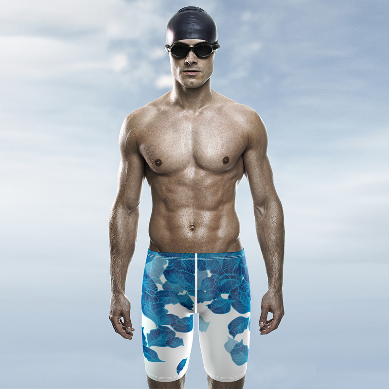 Flying Fish Swimming Trunks Swimming Trunks Men Long Short Bathing Suit Hot Springs Quick-Dry Industry Racing Sports Large Size