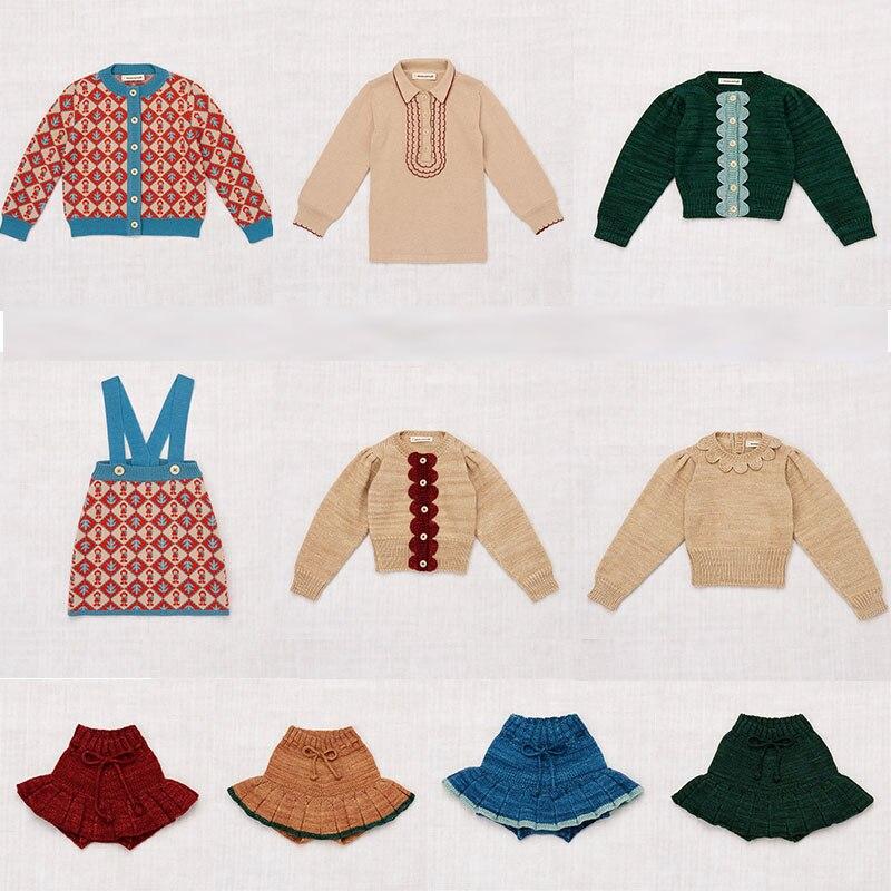 Misha And Puff Kids Girls Vintage Knit Sweaters Beautiful Child Winter Tops Little Girl Fasion Sweaters And Skirts Misha Puff