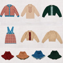 Misha and Puff Kids Girls Vintage Knit Sweaters Beautiful Child Winter Tops Little Girl Fasion Sweaters and Skirts Misha Puff(China)