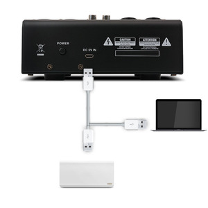 Image 5 - Mini 4 قنوات USB المحمولة خلاط بلوتوث MP3 لايف ميكروفون ستوديو الصوت DJ الصوت خلط وحدة كاريوكي 48 فولت الوهمية السلطة