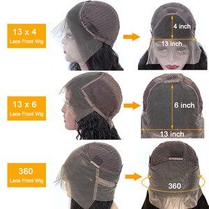 Image 5 - 13x4 Spitze Front Menschliches Haar Perücken Pre Gezupft 150% Brasilianische Körper Welle Remy 360 Spitze Frontal Perücke 4x4 Spitze Verschluss Perücke