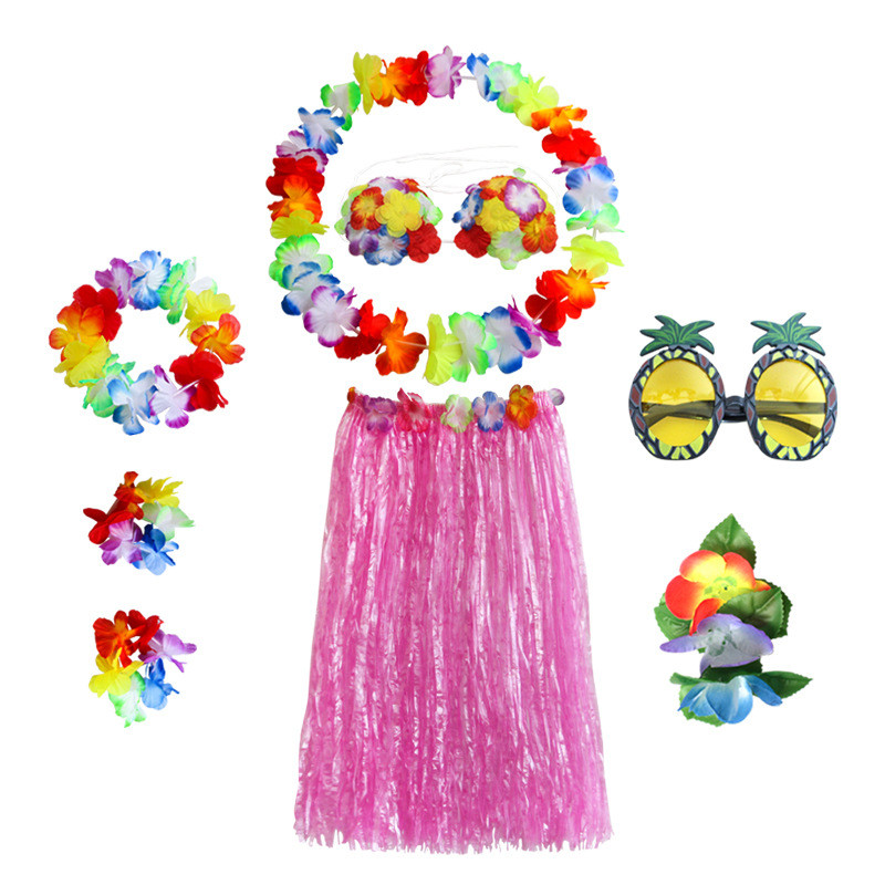 Hawaii Halloween Nightlife 2020 2020 Hawaii Flower Garland Necklace Pineapple Glasses Women Girls