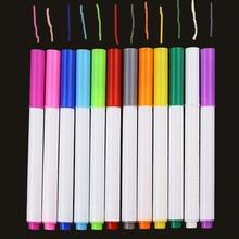 Juego de 12 unidades de tiza líquida soluble en agua de diferentes colores, bolígrafo de dibujo para niños, marcador de tiza sin polvo, suministros escolares y de oficina